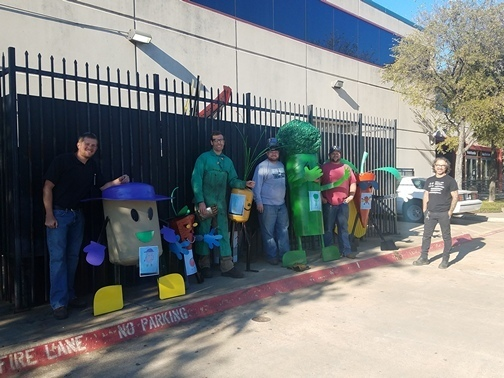 El Centro welding students, faculty create giant v